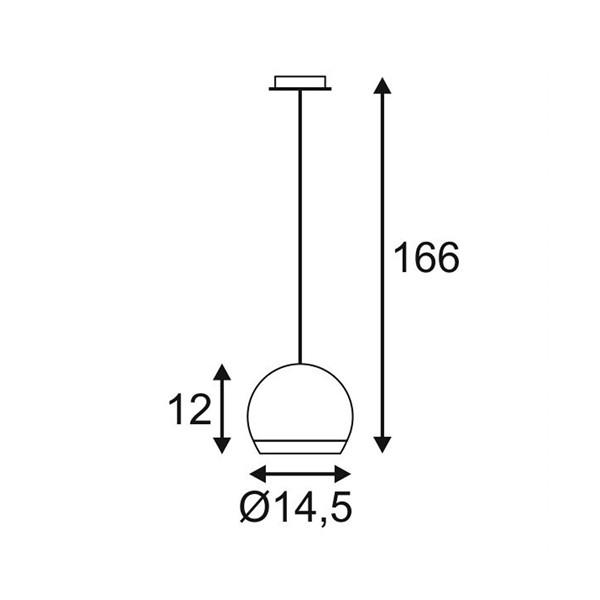 SPOTLINE/SLV LIGHT EYE Biały/Chrom. GU10. max. 75W 133481 Wisząca