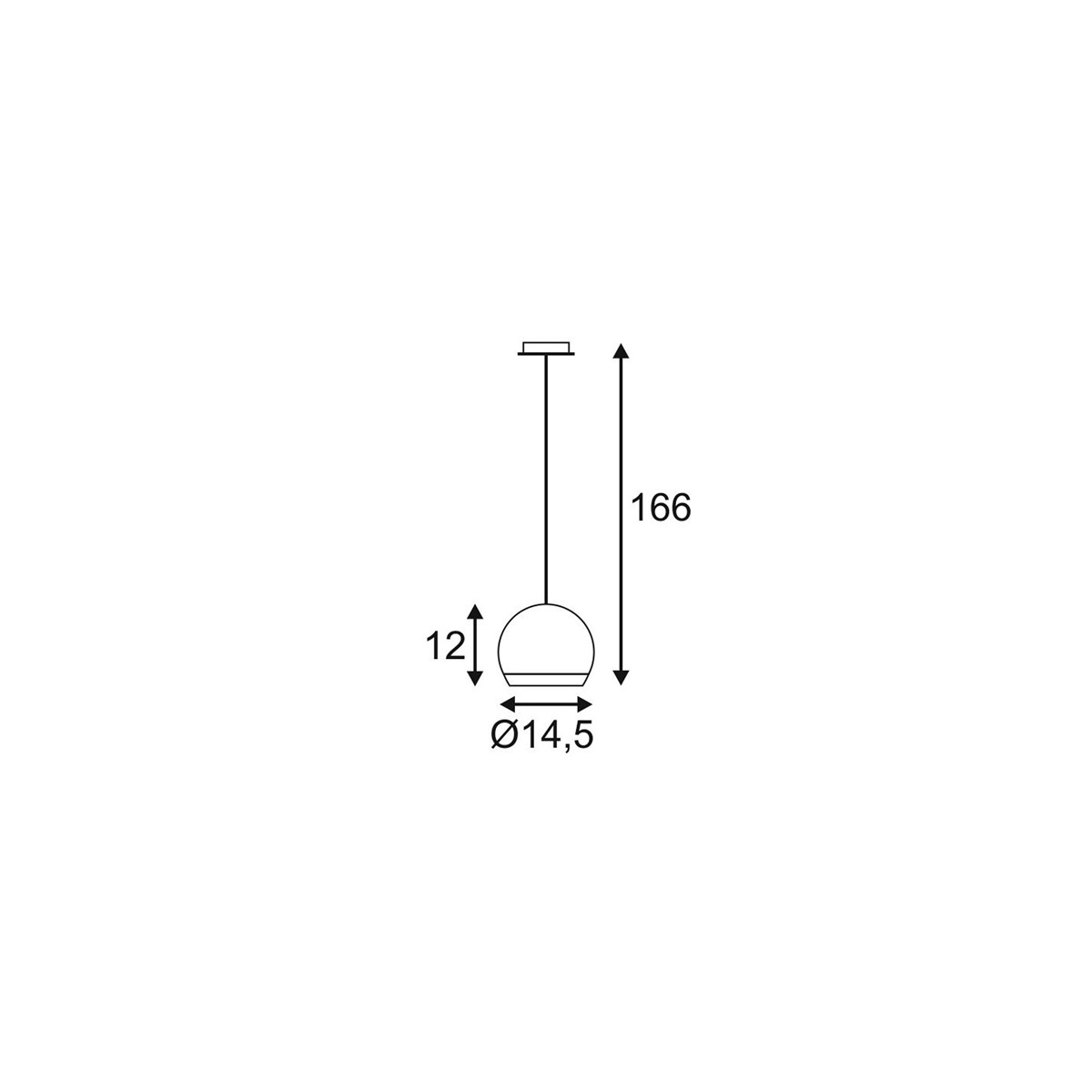 SPOTLINE/SLV LIGHT EYE Chrom. GU10. max. 75W 133482 Wisząca