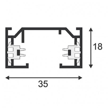 SPOTLINE/SLV 1-fazowa HV. Biały. 2m 143021 Szyna