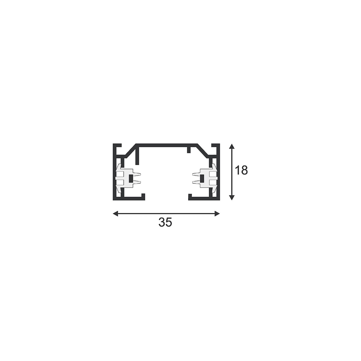 SPOTLINE/SLV 1-fazowa HV. SrebrnoSzary. 2m 143022 Szyna