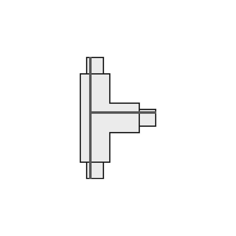 SPOTLINE/SLV T 1-fazowa Łącznik 1 HV. Biały. uziem. lewe 143071