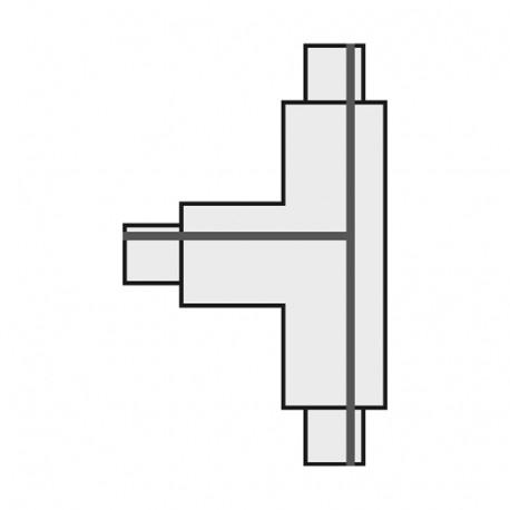 SPOTLINE/SLV T 1-fazowa Łącznik 2 HV. Biały. uziem. prawe 143081