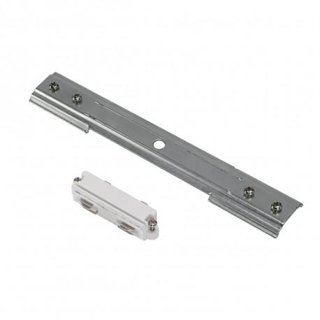 SPOTLINE/SLV 1-fazowa Łącznik podłużny do szyny 1-fazowej HV. wbudowana. Biały/Nikiel mat 143271