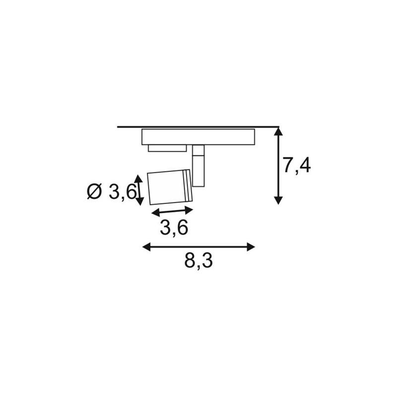 SPOTLINE/SLV PURI. 1-fazowa Adapter Biały. GU10. max. 50W. 143391 Reflektor