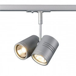 SPOTLINE/SLV BIMA II.1-fazowa Adapter SrebrnoSzary. 2x GU10. max. 50W. 143432 Reflektor