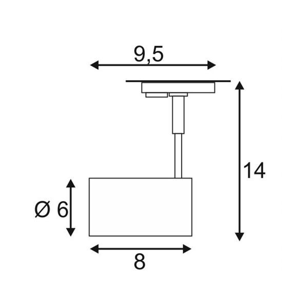 SPOTLINE/SLV BIMA I. 1-fazowa Adapter Biały mat. GU10. max. 50W. 143441 Reflektor