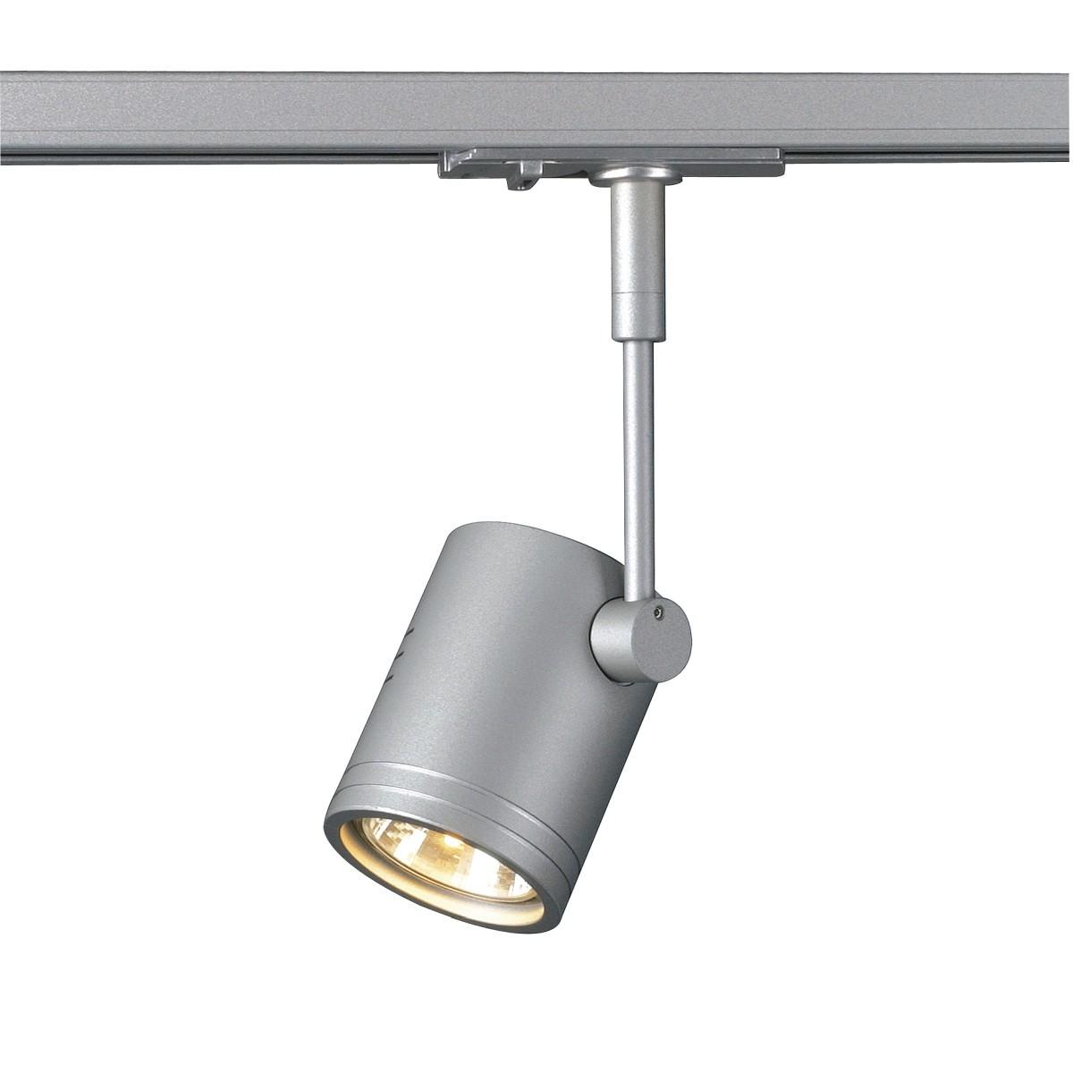 SPOTLINE/SLV BIMA I.1-fazowa Adapter SrebrnoSzary. GU10. max. 50W. 143442 Reflektor