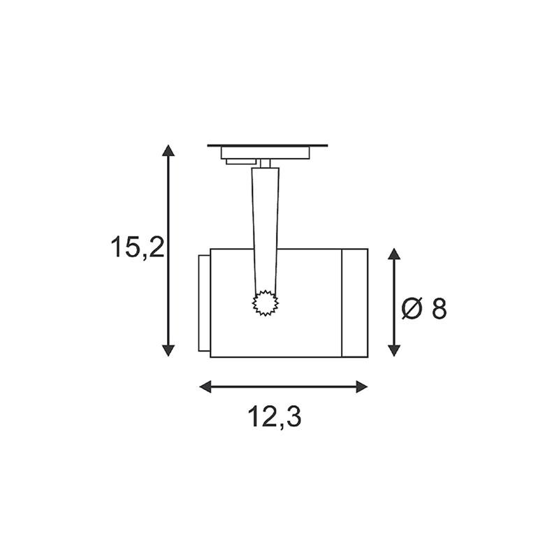 SPOTLINE/SLV EURO SPOT GU10. SrebrnoSzary. max. 50W.adapter 1 fazowy 143814 Reflektor