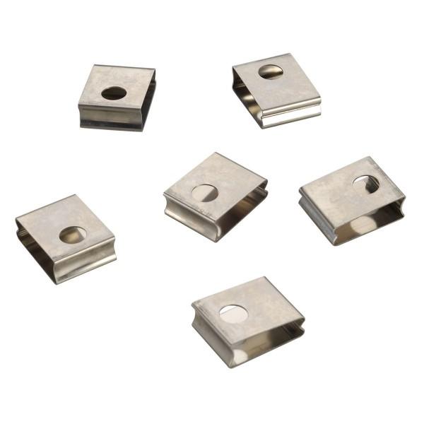 SPOTLINE/SLV EUTRAC 3-fazowa klipy spręż. do szyny, szyna wbudowana 6 sztuk 145551