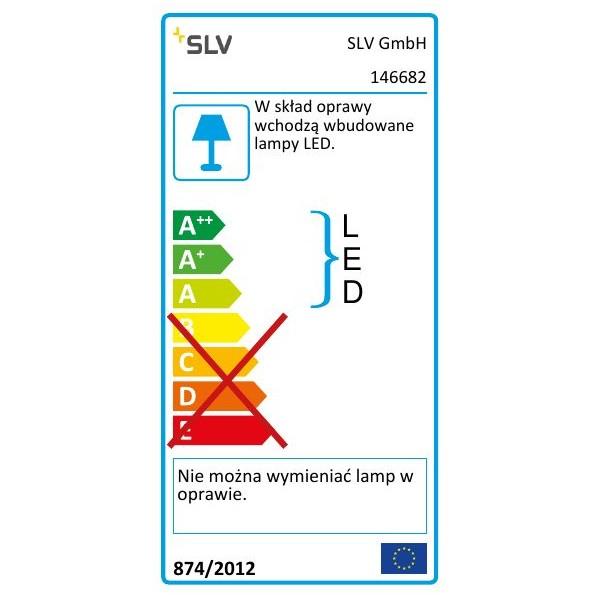 SPOTLINE/SLV DIO FLEX PLATE LED lampa ścienna. chrom. 1x 1W. ciepły biały. 3200K 146682