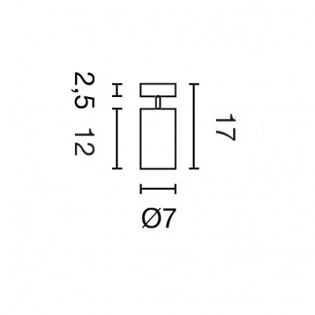 SPOTLINE/SLV ASTO TUBE I Biały. 1x GU10. max. 1x 75W 147411 Ścienna Sufitowa