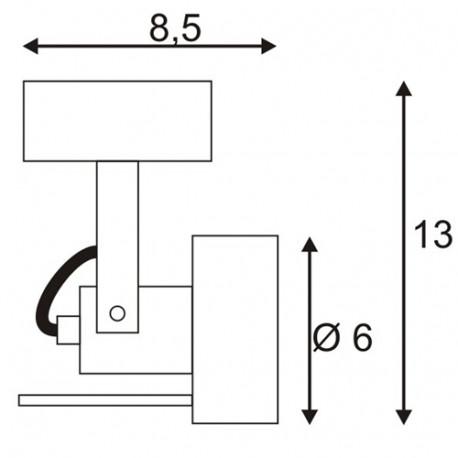SPOTLINE/SLV INDA SPOT GU10 Biały mat. max. 50W 147551 Ścienna Sufitowa