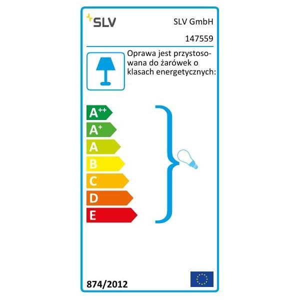 SPOTLINE/SLV INDA SPOT GU10 Aluminium mat. max. 50W 147559 Ścienna Sufitowa