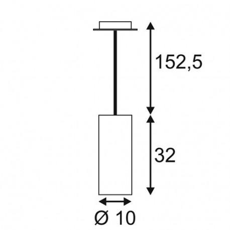 SPOTLINE/SLV ENOLA okrągła. Aluminium mat. E27. max. 60W 149385 Wisząca