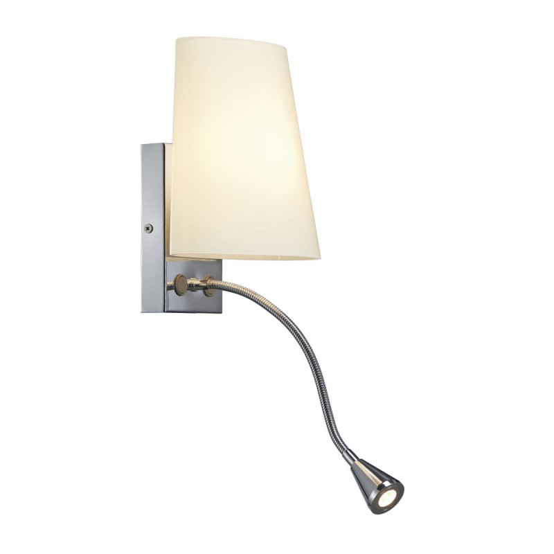 SPOTLINE/SLV COUPA FLEXLED lampa ścienna. chrom. szkło mat. 1x G9 max. 40W. 3W LED. 3000K 149452