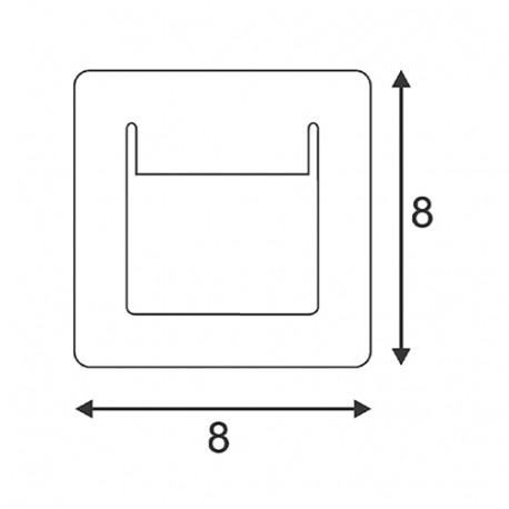 SPOTLINE/SLV DOWNUNDER PURE wbudowana. kwadratowa. Biały. 3.5W LED ciepły Biały. 80x80mm 151950 Wpust