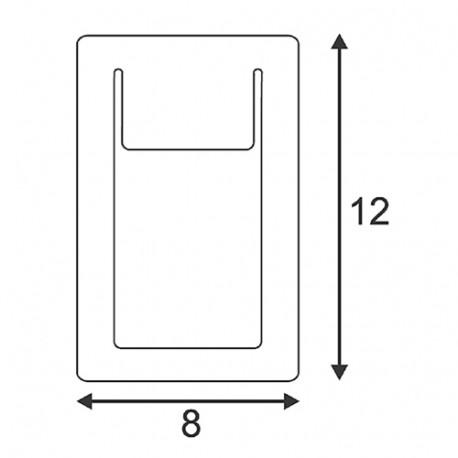 SPOTLINE/SLV DOWNUNDER PURE wbudowana. kwadratowa. Biały. 3.5W LED ciepły Biały. 80x120mm 151951 Wpust