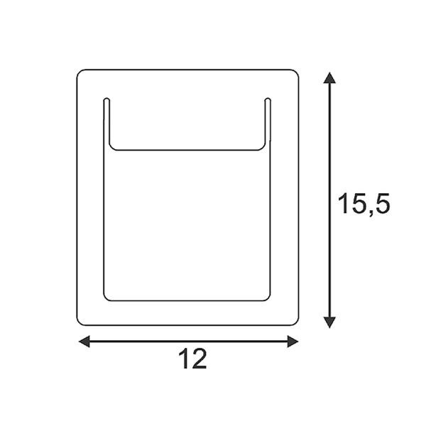 SPOTLINE/SLV DOWNUNDER PURE wbudowana. kwadratowa. Biały. 4.8W LED ciepły Biały. 120x155mm 151952 Wpust