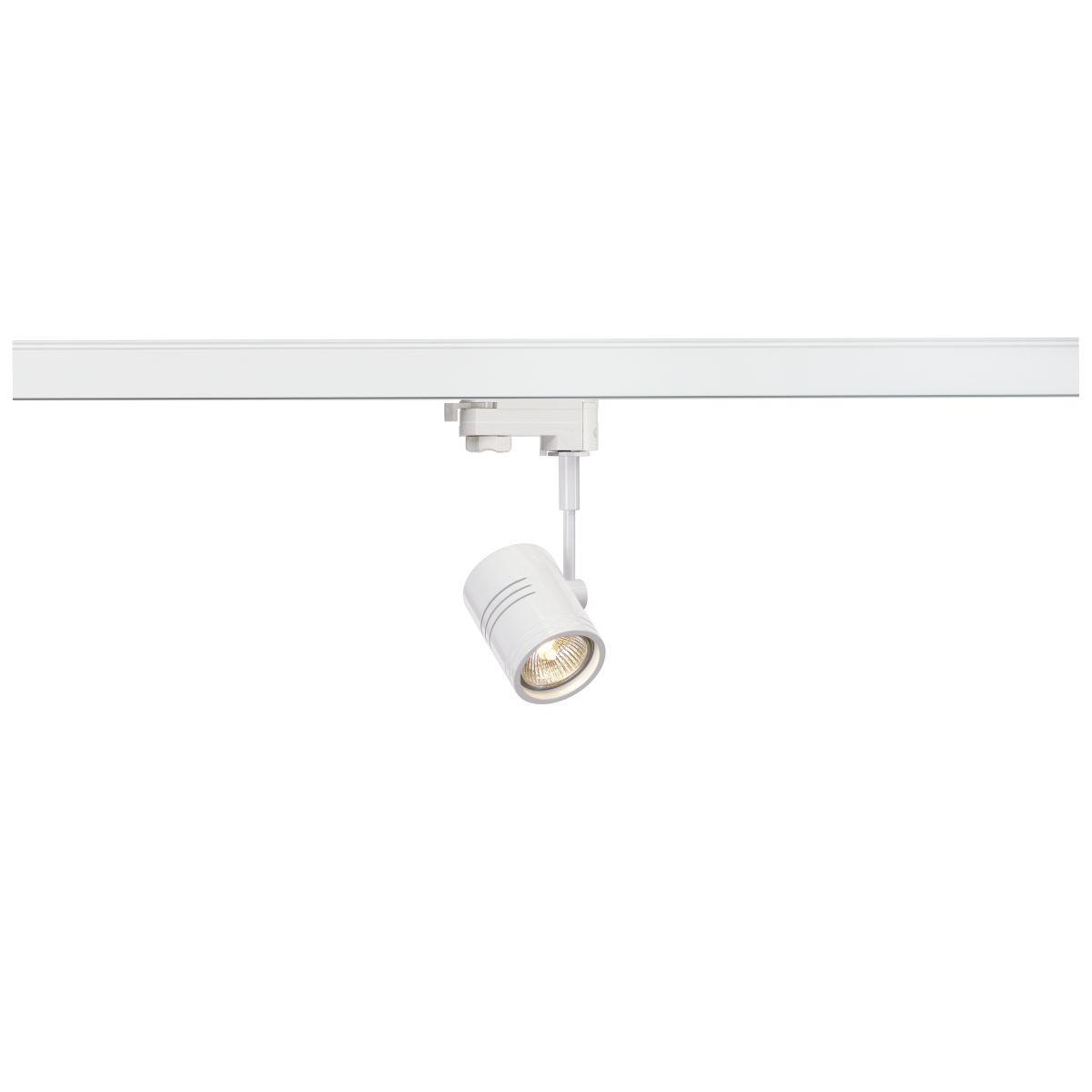 SPOTLINE/SLV BIMA I. Biały mat. GU10. max. 50W. wraz z adapterem 3-fazowym 152241 Reflektor