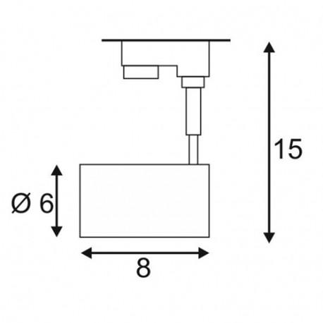 SPOTLINE/SLV BIMA I. SrebrnoSzary. GU10. max. 50W. wraz z adapterem 3-fazowym 152242 Reflektor