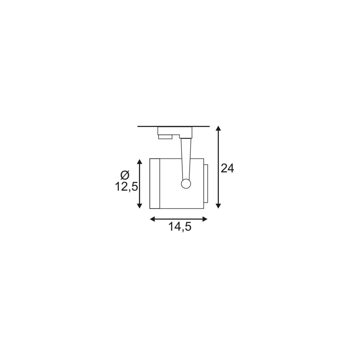 SPOTLINE/SLV EURO SPOT ES111. okrągła. Biały. GU10. max. 75W. wraz z adapterem 3-fazowym 153421 Reflektor