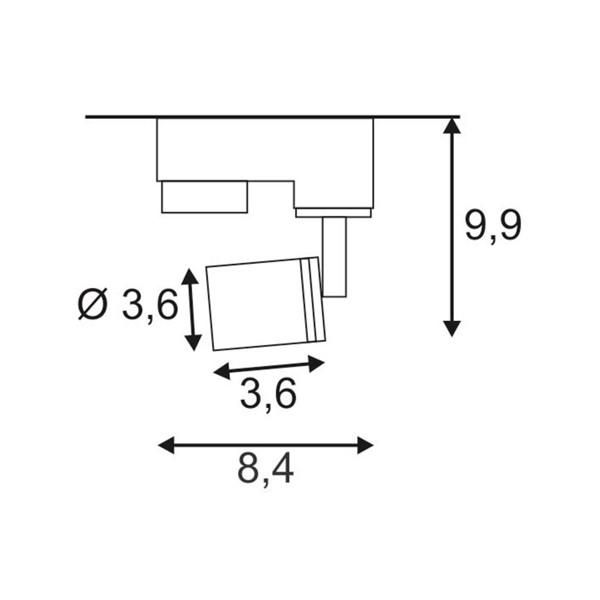 SPOTLINE/SLV PURI. Biały. GU10. max. 50W. wraz z adapterem 3-fazowym 153561 Reflektor