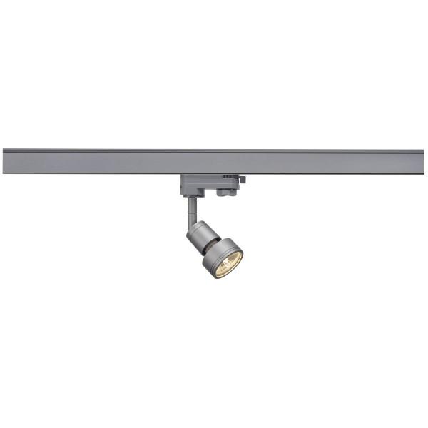 SPOTLINE/SLV PURI. SrebrnoSzary. GU10. max. 50W. wraz z adapterem 3-fazowym 153564 Reflektor