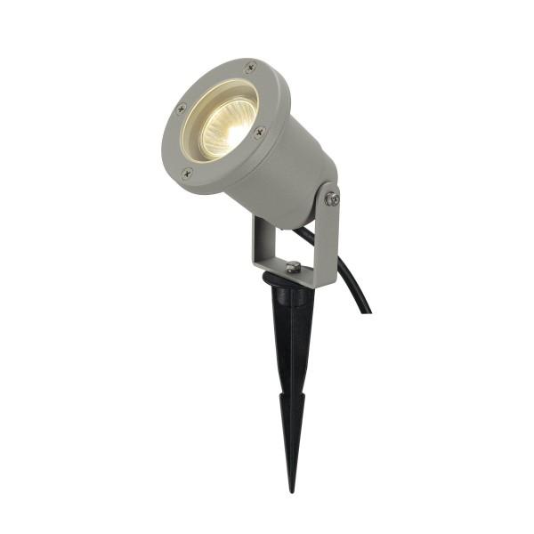 SPOTLINE/SLV Spotline NAUTILUS SPIKE. SrebrnoSzary. GU10. max. 35W. wraz z 1.5m przewód z wtyczką 227418 Reflektor