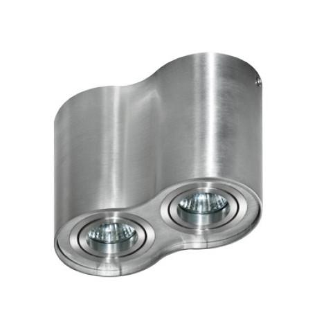 Azzardo BROSS 2 ALUMINIUM 2xGU10 Natynkowa Aluminium AZ0783