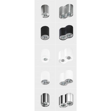 Azzardo BROSS 2 WHITE/ALUMINIUM 2xGU10 Natynkowa Biały/Aluminium AZ0784