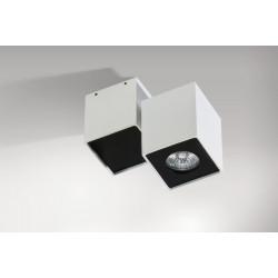 Azzardo FLAVIO 1 WHITE/BLACK 1xGU10 Reflektor Sufitowy Biały/Czarny AZ0791