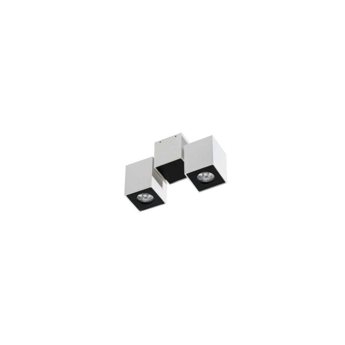 Azzardo FLAVIO 2 WHITE/BLACK 2xGU10 Reflektor Sufitowy Biały/Czarny AZ0792