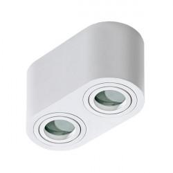 Azzardo Brant 2 IP44 Sufitowa Biały 2xGU10 50W AZ2816