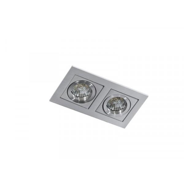 Azzardo PACO 2 ALUMINIUM 2xGU10 Wpuszczana Aluminium AZ0798
