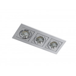 Azzardo PACO 3 ALUMINIUM 3xGU10 Wpuszczana Aluminium AZ0801