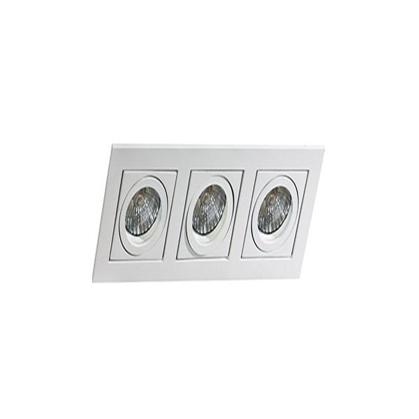 Azzardo PACO 3 WHITE 3xGU10 Wpuszczana Biały AZ0802