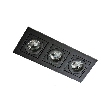 Azzardo PACO 3 BLACK 3xGU10 Wpuszczana Czarny AZ0803