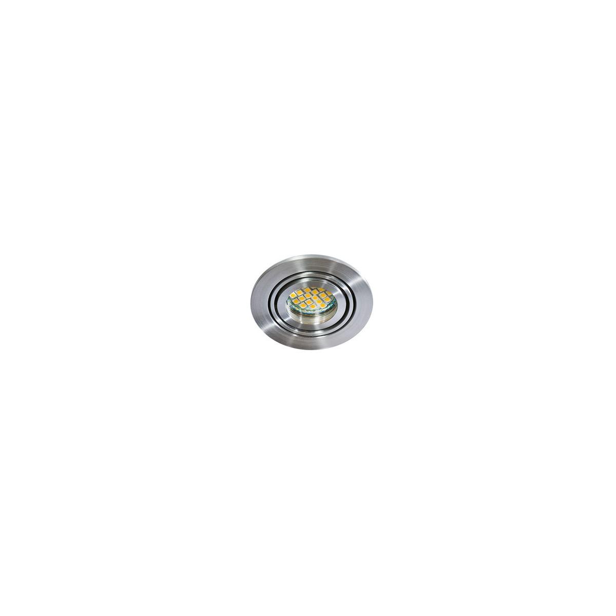 Azzardo CARLO 1 ALUMINIUM 1xGU10 Wpuszczana Aluminium AZ0804