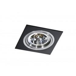 Azzardo SIRO 1 BLACK/ALUMINIUM 1xES111 Wpuszczana Czarny/Aluminium AZ0769