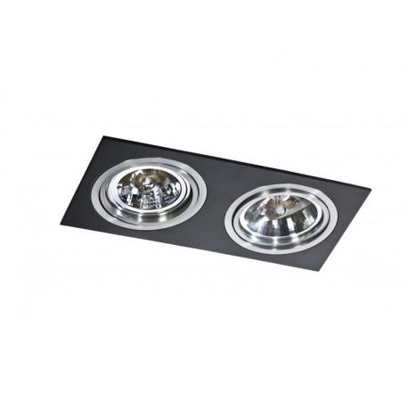 Azzardo SIRO 2 BLACK/ALU 2xES111 Wpuszczana Czarny/Aluminium AZ0772
