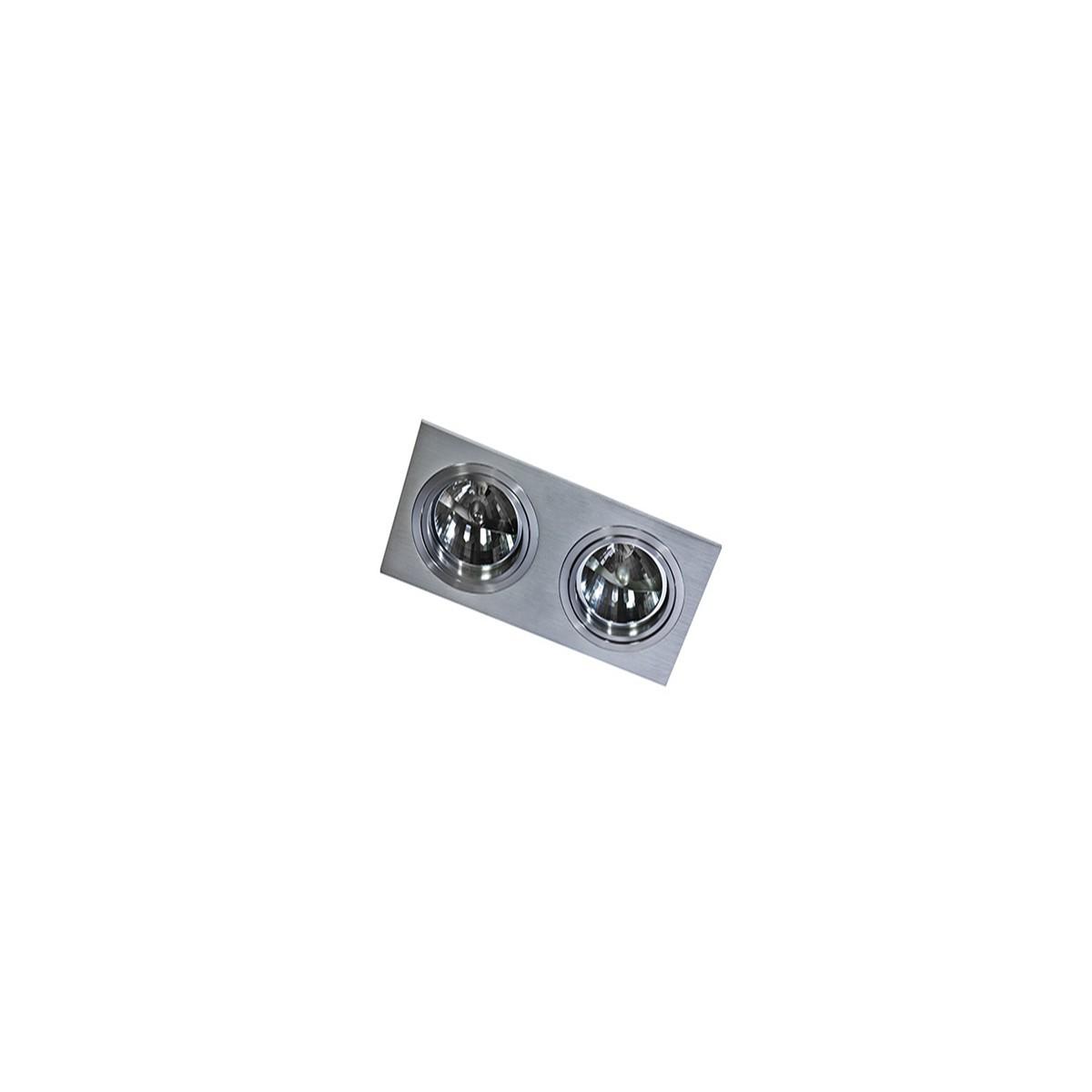 Azzardo SIRO 2 ALU 2xES111 Wpuszczana Aluminium AZ0770