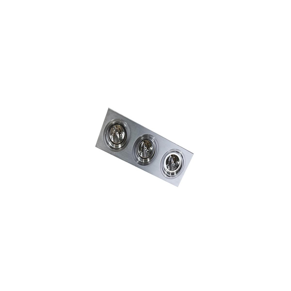 Azzardo SIRO 3 ALU 3xES111 Wpuszczana Aluminium AZ0773