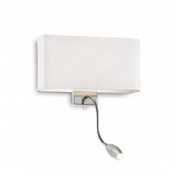 Ideal Lux HOTEL AP2 BIANCO Biały Kinkiet 1xE27 + 1xLED 1W 45lm 3000K 035949