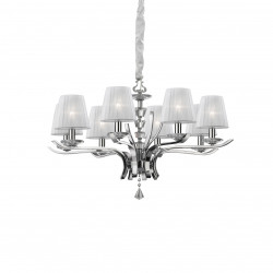 Ideal Lux PEGASO SP8 BIANCO Biały Wisząca 8xE14 059242