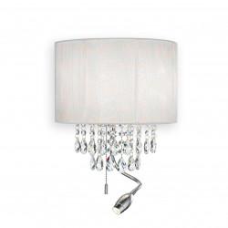 Ideal Lux OPERA AP3 BIANCO Biały Kinkiet 2xE14+LED 1W 45lm 3000K 068268