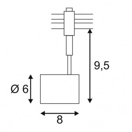 SPOTLINE/SLV BIMA 1 do EASYTEC II. srebrnoszary. GU10. max. 50W 184452