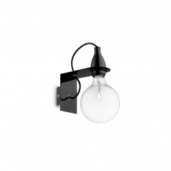 Ideal Lux MINIMAL AP1 NERO Czarny Kinkiet 1xE27 045214