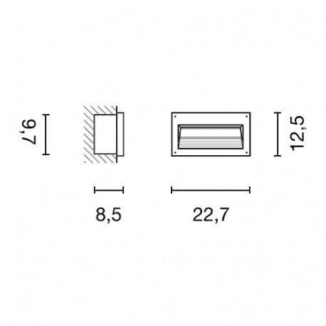 SPOTLINE/SLV BRICK DOWNUNDER E14. srebrnoszary. max 40W. IP44 229062