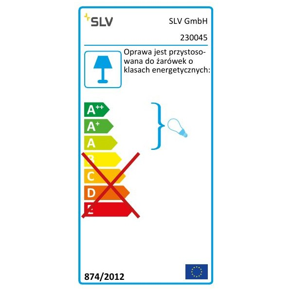 SPOTLINE/SLV MERIDIAN BOX zewnętrzna . antracyt. E27. max. 25W 230045