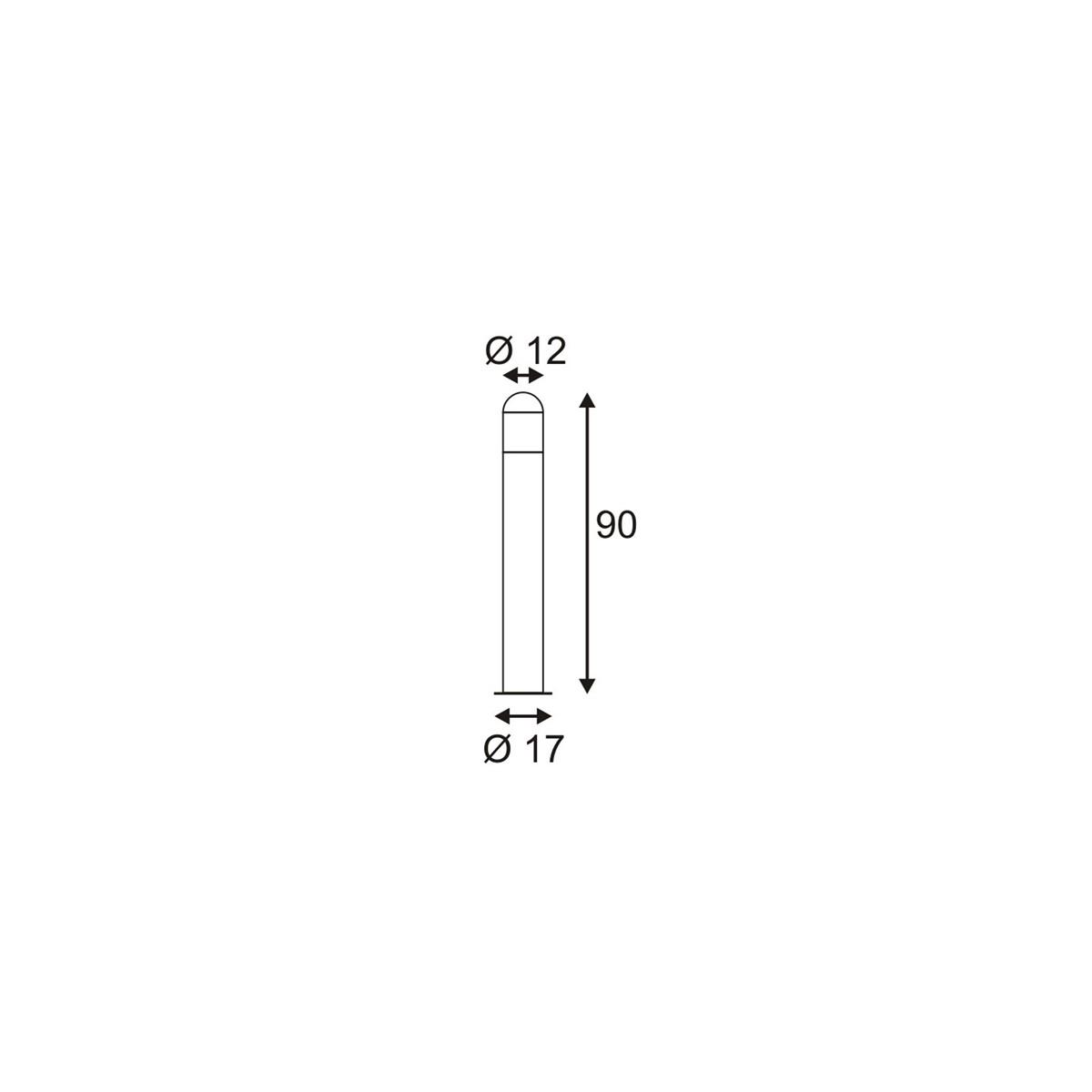 SPOTLINE/SLV C-POL lampa podłogowa. antracyt. E27. max. 24W 231475
